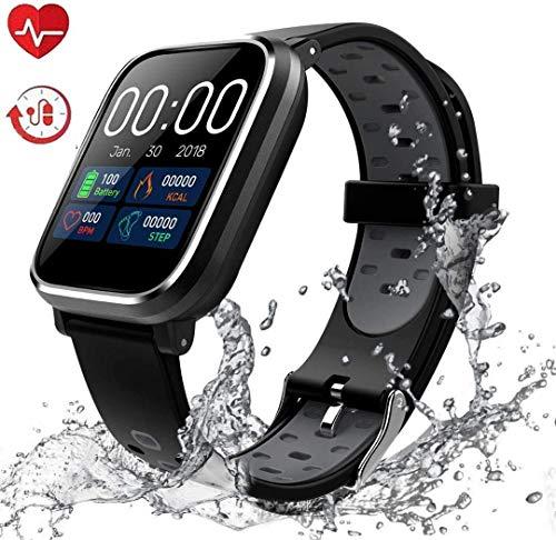 Fitness Tracker, Activity Tracker con schermo a colori da 1,3'Smart Watch impermeabile IP67 con cardiofrequenzimetro Sleep Monitor Contapassi per donne Uomini Bambini-S-HS5