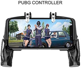 """TOHUU MobileGameController Pubg,Finger Linkage Game Handle Peace Elite Fast Shooting Button Controller for PUBG Rules of Survival Game Trigger Joystick Gamepad for 4-6.5"""" iOS & Android Phone"""
