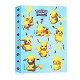 JOYUE Pokemon Card Holder Album, Carpeta Pokemon para Tarjetas, Album de Tarjetas, Fundas Protectoras de Pokemon, Tarjetas GX y EX, 30 Páginas con Capacidad para 240 Tarjetas (Pikachu)