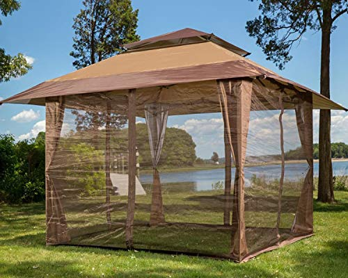 ABCCANOPY 10' x 10' Mosquito Netting Panels for Gazebo Canopy,Brown