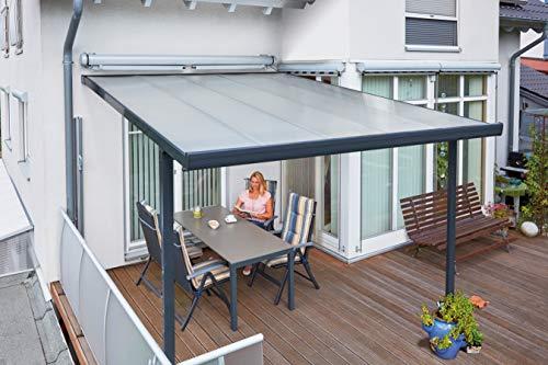 Gutta Terrassenüberdachung Aluminium, anthrazit, Typ F, 5460 mm breit, 4060 mm tief