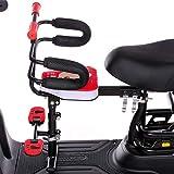 Huachaoxiang Asientos De Bicicletas Montados En La Parte Delantera, para Niños Niño Bicicleta Liberación Rápida Espesar Doble Punto Soporte Apoyo Adecuado,7