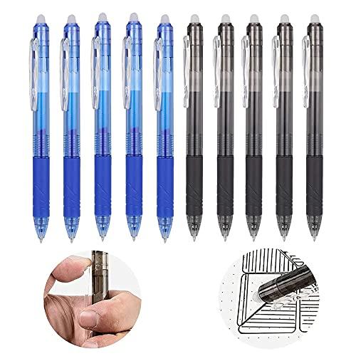 10 bolígrafos de gel borrables, con goma de borrar, bolígrafos de tinta de gel, bolígrafo de gel borrable, bolígrafo de gel borrable, bolígrafo de gel