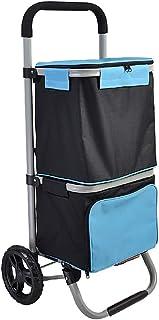 PAKUES-QO Chariot À Provisions Chariot À Provisions, Chariot D'Épicerie Pliable avec Emballage Isolant À Double Couche, Ch...