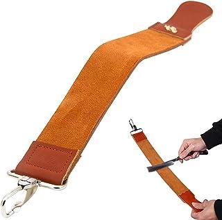 حزام براية الحلاقة مستقيمة من كالايكسينغ. حزام شد الجلد الطبيعي مع مركب تلميع لشحذ ماكينة الحلاقة مستقيمة من TD01