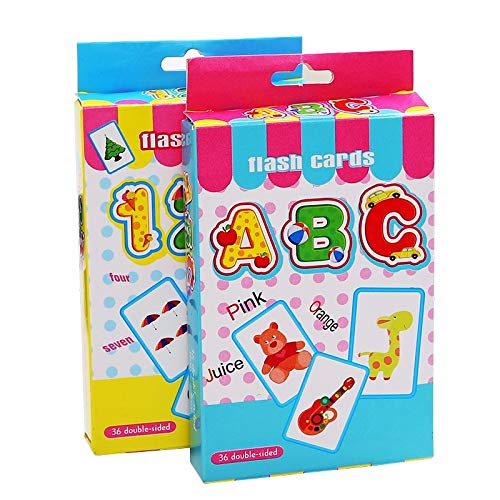 Puzzle 36 Stück Baby ABC Und 123 Lernkarten Infant Kids Letter Number Frühpädagogische Kinder Memory Flash Cards