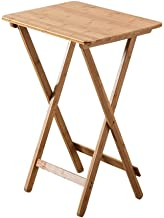 Folding Bamboo Bedside Table Foldable TV Tray Work Serving Reading Desk Snack