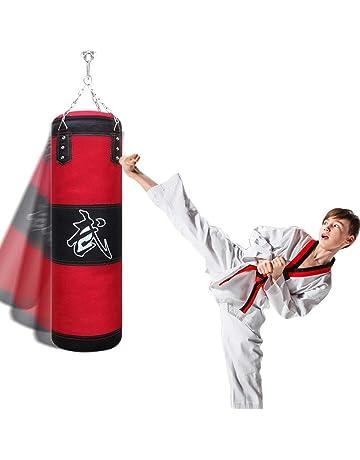 Focket Saco de Boxeo,Juego de Sacos de Boxeo de Entrenamiento de Boxeo para Colgar,Saco de Arena Kit de Saco de Arena de Patada Colgante de Boxeo de Entrenamiento con Guantes y Casco para ni/ño Adulto