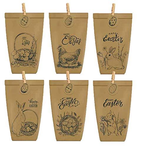 Chang 12 bolsas de papel con diseño de dragón para Pascua con...