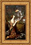 Forever Art Gallery John William Waterhouse Lamia and The Soldier Framed Canvas Giclee Print - Finished Size (W) 19.1'' x (H) 28.1'' [Gold] (V04-11K-MD535-01)