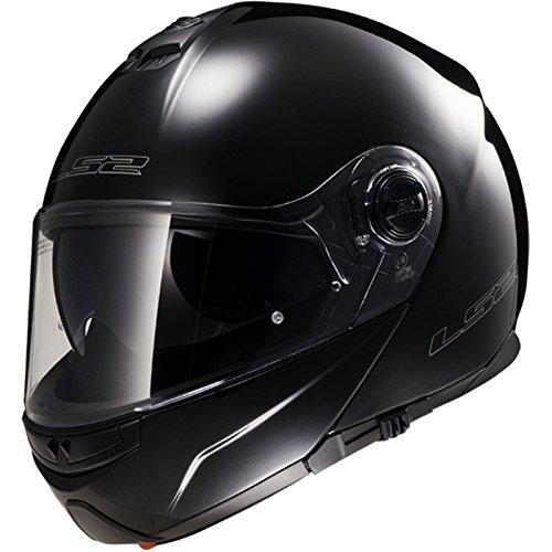 LS2 FF325 Cascos modulares de Moto DVS Motocicleta Bicicleta - Negro M(57-58cm)
