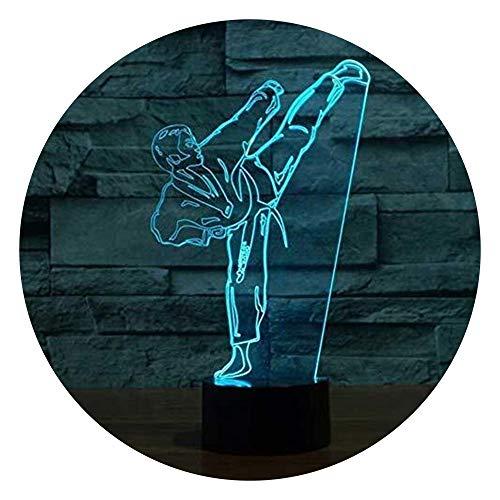 SOHOH Visuelle StereovisionKinder DEK Kreative 3D Karate Led Nachtlichter Schlafzimmer Nacht Kampfkunst Vision USB Tischlampe Kindergeschenke Visuelle StereovisionKinder Weihnachtsgeschen