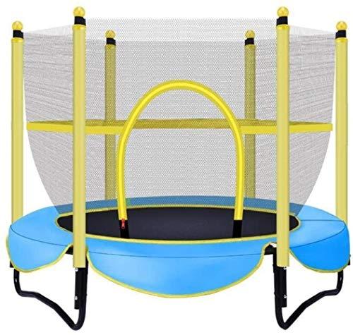 JCCOZ-Trampoline Domestic Trampolin Indoor Trampolin for Kleinkinder mit einem Netto-Sicherheits Tragfähigkeit von 150 kg/Durchmesser 150cm Trampoline (Color : Blue)