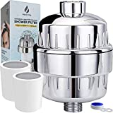 15 Stage Shower Filter with Vitamin C Shower Filters for Hard Water Unique Coconut Shell Activated Carbon Technology Best Removes Chlorine Fluoride Heavy Metals & Other Sediments