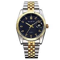 QTMIAO美しい機械式時計 時計レディースゴールドウォッチメンズウォッチ女性のモデル (Color : 3)