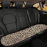Jeiento Cool Leopard Print antideslizante transpirable coche asiento trasero cubre 1 unids coche accesorios fácil de limpiar se adapta a la mayoría de los coches, sedán SUV furgoneta