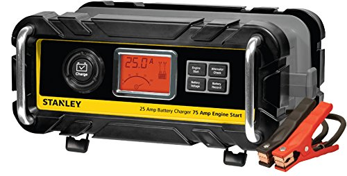 STANLEY BC25BS Smart 12V Battery Charger for Car/Marine Charging, 25 Amp
