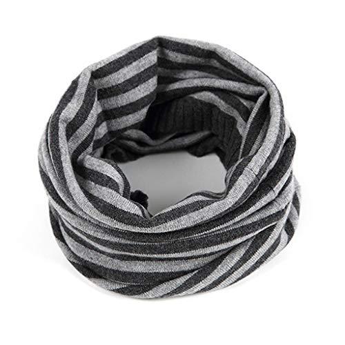 Shi xiang shop Infinity Raya de la Bufanda for Las Mujeres, Otoño Invierno cálido Cuello círculo Loop Bufanda, Hacer Punto Bufanda Infinity Woll (Color : Gris)