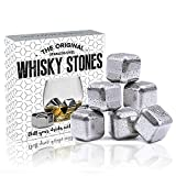 6glaçons en acier inoxydable The Kitchen Gift Company - Pour whisky - Réutilisables - En métal - Pour refroidir le Scotch, le whisky, le brandy