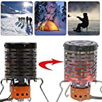 Camping Mini Heater - Heater Adaptor,Portable Tent Heating Stove,Stainless Steel Tent Heating Cover with Handle and…