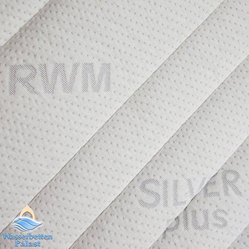 RWM Wasserbettbezug Silver Plus mittig teilbar - alle Größen - z.B. 200x220 cm