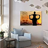 VOORKOMS My Dad is My Hero Wall Sticker for Living Room Bedroom Office Home Hall Decorative