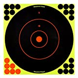 Shoot-N-C 12 Inch Bullseye Targets - 12 Count Pack With 288 Pasters