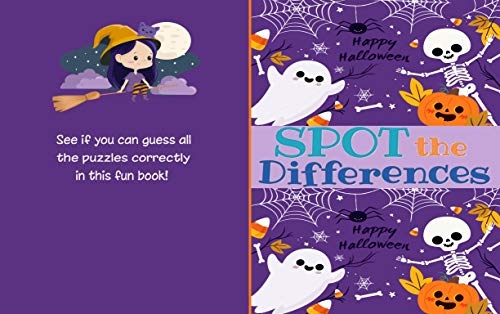 Spot the Differences_Happy Halloween: Spot 5-10 Differences Puzzle Book for Kids| Picture Puzzle_ Happy Halloween Theme| Activities Book for Kids Aged ... Girls Activity Learning (English Edition)