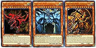 Konami YuGiOh Legendary Decks II Ultra Rare Yugi's God Card Set LDK2-ENS01, LDK2-ENS02 & LDK2-ENS03