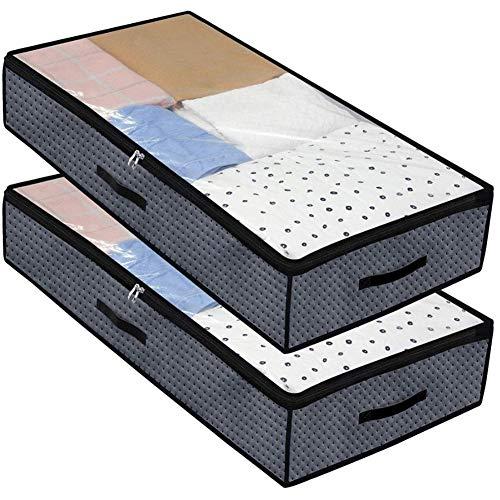 2 bolsas de almacenamiento con cremallera organizadoras no tejidas para almacenamiento
