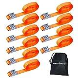 CARTMAN 1' x 12' Lashing Straps up to 600lbs, 2-10pk in Carry Bag (10pk)