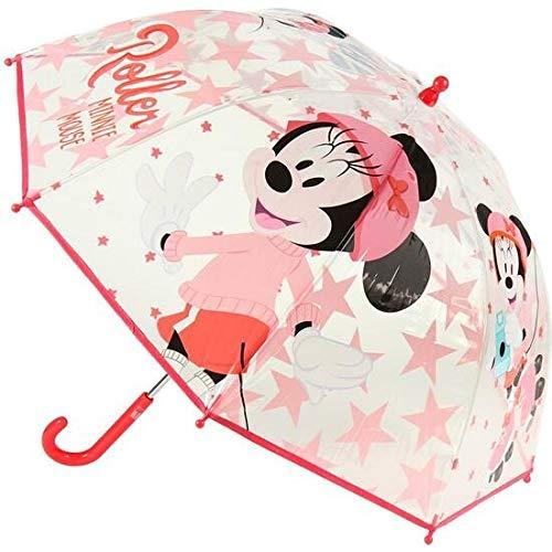 Cerdá - Paraguas Transparente de Minnie - Licencia Oficial Disney