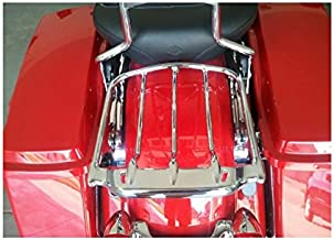 HTTMT MT502-005- Chrome Two-UP Air Wing Luggage Rack Mounting Compatible with Harley Davidson Touring '09-'16 Street Glide FLHX Road King FLHR Electra Glide FLHT Road Glide FLTR
