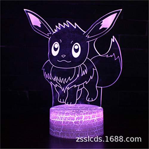 Figurines Pokemon jouets d'action Figure 3d visuels LED veilleuses Anime Figure pokemon aller monstre Pikachu Figurine jouets modèles cadeaux