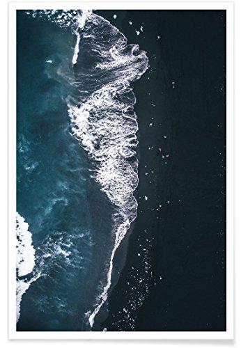 """JUNIQE® Ozeane, Meere & Seen Strände Poster 60x90cm - Design """"Diamond Beach 2"""" entworfen von Airpixels Media"""