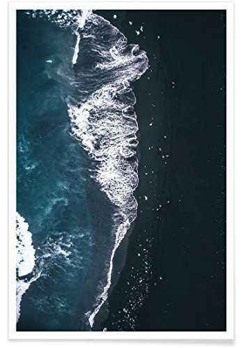"JUNIQE® Ozeane, Meere & Seen Strände Poster 60x90cm - Design ""Diamond Beach 2"" entworfen von Airpixels Media"