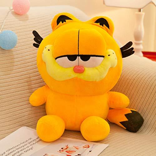 yfkgh Plüschtiere, süße Garfield, Puppe kleine Puppe, Kaffee Katze Puppe, Cartoon Kissen, Geburtstagsgeschenk weiblich@Orange_30 cm (Geschenkbeutel mit Blume verschicken)