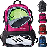 Athletico National Soccer Bag - Backpack Soccer, Basketball & Football Includes Separate Cleat