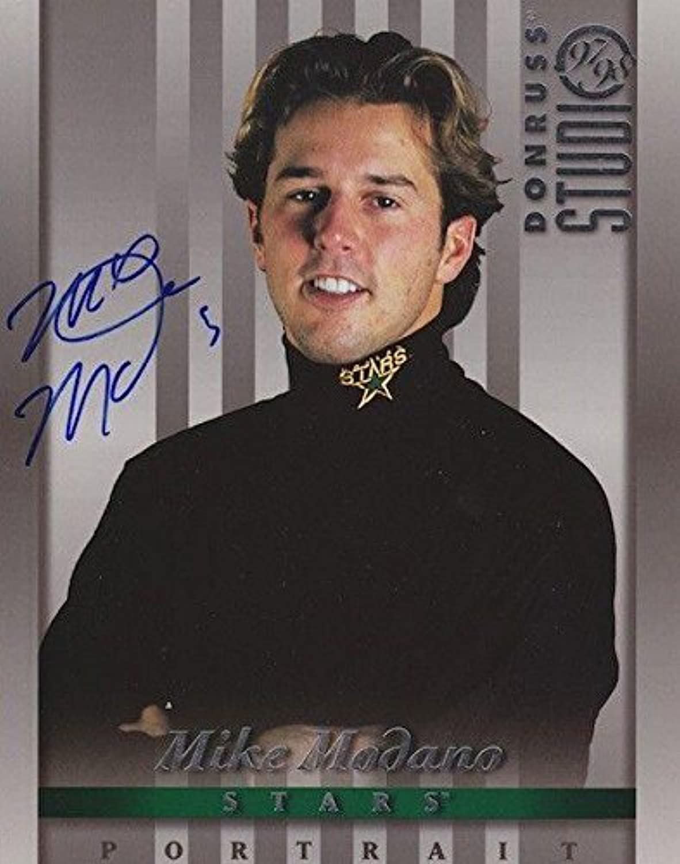 Autographed Modano Photo  DONRUSS Studio 8X10 w COA  Autographed NHL Photos