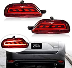 KE-KE 3D Optic Red Lens Full LED Bumper Reflector Lights Tail Brake Rear Fog lights and Sequential Turn Signal Lamps for 2017 2018 2019 2020 2021 Mazda cx-5 cx5 accessories