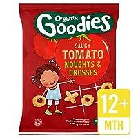 グッズのNoughtsをOrganix&生意気なトマトの15グラムを横切ります - Organix Goodies Noughts & Crosses Saucy Tomato 15g [並行輸入品]
