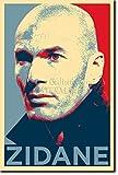 Zinedine Zidane Kunstdruck (Obama Hope Parodie) Hochglanz