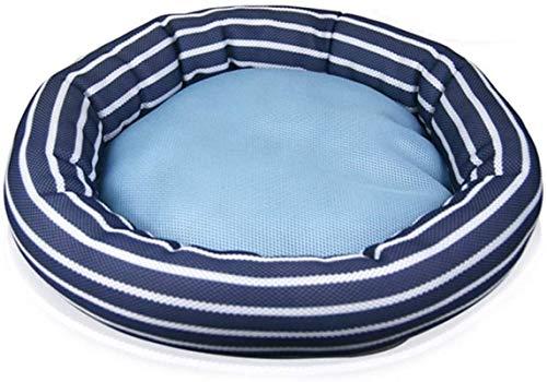 XiYou Hundebett Betten für Katzen Kleine Hunde Teddy Summer Doghouse Katzennest Atmungsaktive gewebte Produkte Weiche Bequeme waschbare, blau