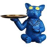 GAOYADS Harz-Valet-Tablett, Hundestil-Keys-Organisator, Schmuck-Tablett, Catchall-Tablett Für Die Kommode Badezimmer-Waschtisch, Key Candy Phone-Münz-Änderung Organizer-Box (Color : Blue)