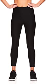Reebok Women's Capri Workout Leggings w/High-Rise Waist - Cropped Performance Compression Tights