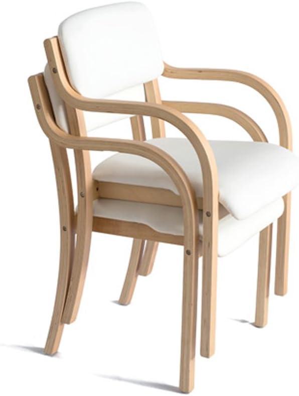 Président WGZ- Simple Moderne en Bois Massif à Manger Chaise Tissu Table à Manger et Chaise Fauteuil Simple (Color : B) F