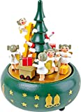 Small Foot 1759 Albero di Natale Carillon, Legno, Multicolore, 13.5x13.5x19 cm