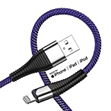 iPhone Charger 10 ft,[Apple MFi Certified] Lightning Cable 2 Pack 10 Foot Charger Cord USB Charging & Syncing Extra Long Nylon Braided USB Charging Cord Compatible with iPhone X/Max/11/8/7/6/6S/5S/SE