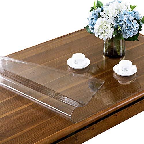 Doorzichtige plastic transparante tafelkleedbeschermer 2 mm dikke rechthoek Vinyl plastic tafelkleed Desk Pad Antislip bureaumat Tafelkussens, voor keukendiners,100X200CM/39X79Inch