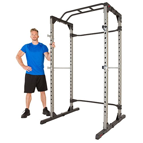 Fitness Reality 810XLT Super Max Power Cage with Optional Lat Pull-down Attachment and Adjustable...
